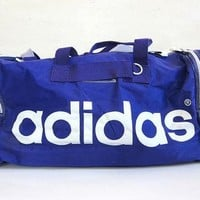 20% OFF SALE vintage Adidas Duffle Bag // purple sports duffel bag