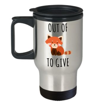 Fox Pun Travel Mug For Fox Sake Mug Zero Fox Given Gifts Out of Fox to Give Funny Stainless Steel Insulated Coffee Cup
