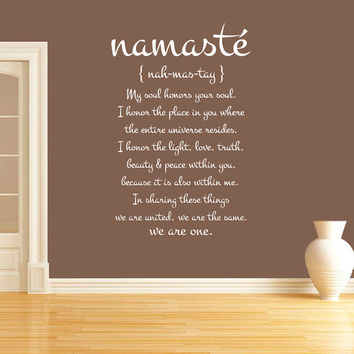 Wall Decal Vinyl Sticker Decals Art Decor Design Quote Lettering Word Symbol  Namaste Mandala Yoga Indian Buddha Dorm Office Bedroom (r1348)