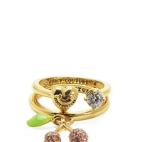 Pave Cherry Ring Set by Juicy Couture