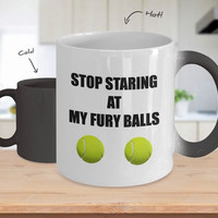 Funny Color Changing Coffee Mug Birthday Gift For Tennis Fan Fans Player Gifts For Coffee Lover Him Men Dad Father Boyfriend Customized Mug