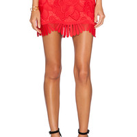 Lovers + Friends Avery Mini Skirt in Coral