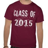 White Grunge Class of 2015 Tshirt from Zazzle.com