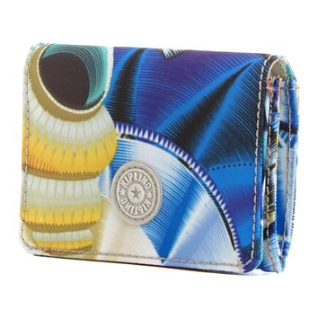 Clea Printed Snap Wallet - Oceanic Day Dream Print