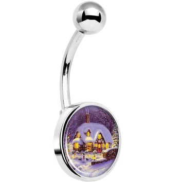 Advent Christmas Village Belly Ring