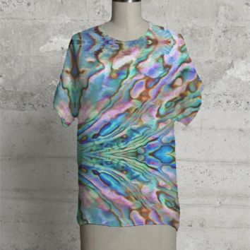 Oil Paint Paua Tee