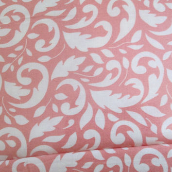 1/2 Yard + Mirabelle by MODA, Damask Cotton Fabric, Pink and White, Cream and White, Damask, More than 10 Yards Available