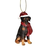 SheilaShrubs.com: Doberman Pinscher Holiday Dog Ornament Sculpture JH576309 by Design Toscano: Christmas Tree Ornaments