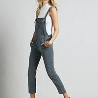 Free People Womens Washed Corduroy Overall