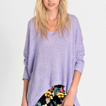 Shrinking Violet Knit Sweater - $50.00: ThreadSence, Women's Indie & Bohemian Clothing, Dresses, & Accessories