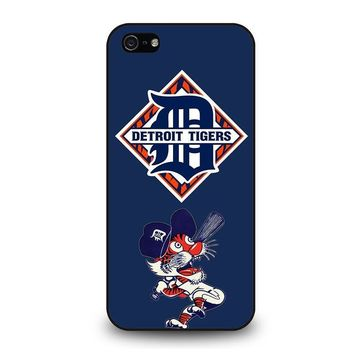 detroit tigers baseball iphone 5 5s se case cover  number 1