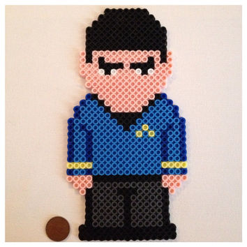 Star Trek Spock pixel art or magnet by K8BitHero on Etsy