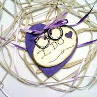 Rustic Ring Bearer Pillow, Purple Wedding, Ring Bearer Pillow, Rustic Wedding