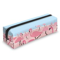Flamingo Sky Blue & Pink Travel Cosmetic Makeup Bag