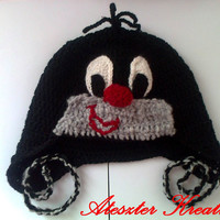 Cute crocheted mole hat