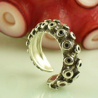 Size 9 3/4 - 13 Tentacle Ring | OctopusME - Jewelry on ArtFire