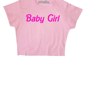 Baby Girl ∘ Kawaii ∘ Pastel ∘ Grunge ∘ Crop Top ∘ Baby Blue Pink ∘ Anime ∘ Womens Ladies ∘ S M L XL 2XL