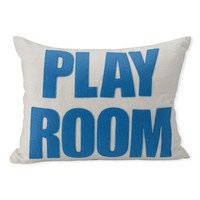 """Play Room"" Stitched Pillow"