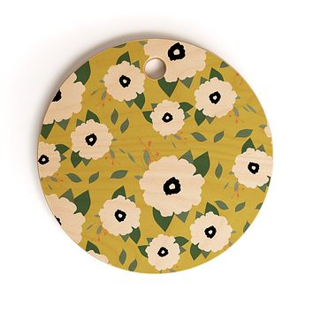 Allyson Johnson Garden Floral Cutting Board Round