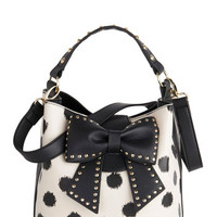 Betsey Johnson Outfit of the Daring Bag in Cream