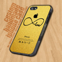 Infinity Love in Gold Texture - iPhone 4 / 4s Case - iPhone 5 Case - Black Case - White Case