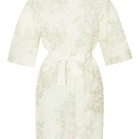 Floral-Embroidered Organza Dress