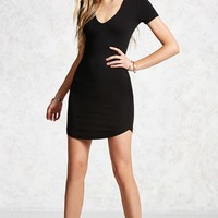 Ribbed Bodycon Choker Dress