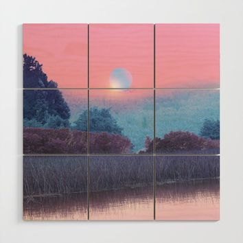 Landscape & gradients XVII Wood Wall Art by vivianagonzalez