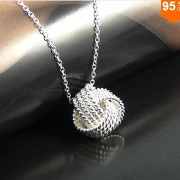 CREYUG3 925 silver,Rose gold Women Pendant collares Rose Ball Slide Fashion Gold Chain necklaces accessories jewerly = 1946802180