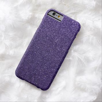 Cool Awesome Purple Glitter Barely There iPhone 6 Case