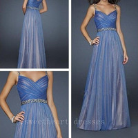 Attractive Long Prom Dresses Style Spaghetti Strap Dress from sweetheart dresses