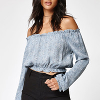 Lisakai Woven Off-The-Shoulder Blouse at PacSun.com