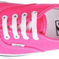 Vans - U Authentic Shoes In Pink/True White, Size: 10 D(M) US Mens / 11.5 B(M) US Womens, Color: Pink/True White