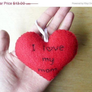 Christmas in July 20% OFF Heart Ornament - I love my mom
