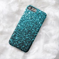 Beautiful Aqua blue sparkles iPhone 6 case by PLdesign