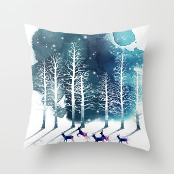 Winter Night 2 Throw Pillow by nadja1