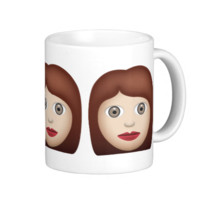 Woman Emoji Basic White Mug