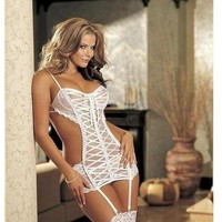 Shirley of Hollywood IS-SOH-25033, Multi Ribbon Gartered Chemise.