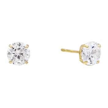 Solitaire Stud Earring 14K