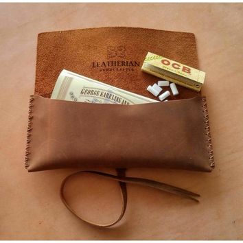 Leather Pouch | TOBACCO & PIPE