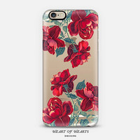Red Roses Floral Transparent Clear Case for iPhone 6, iPhone 6 Plus, iPhone 5/5s