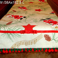 Santa Claus 15x72 table runner – Holiday Christmas decor