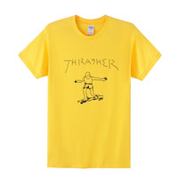 Thrasher Yellow Gonz T-Shirt By Mark Gonzales