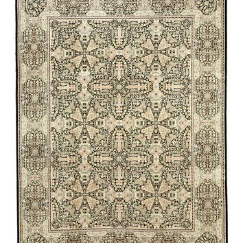 EORC Hand-knotted Wool Black Transitional Oriental Pak-Modern Rug