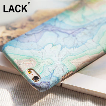 Fashion Map Artistic Case For iphone 6 Case For Apple iphone 6S 6 Plus 5 5S Capa Coque Slim Matte Hard Plastic Phone Cases Cover