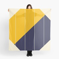 'Yellow Blue Chamber' Scarf by Space & Lines