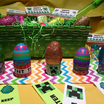 Minecraft Easter Egg Holders, Printable PDF