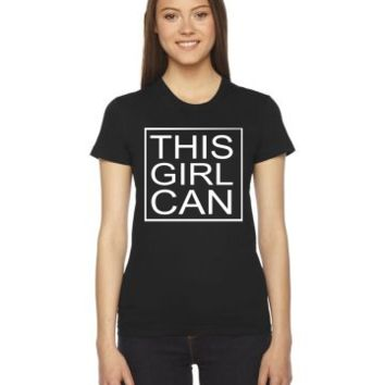 this girl can everyday Ladies Fitted T-Shirt