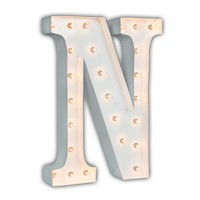 """24"""" Letter N Lighted Marquee Letters (White Gloss)"""