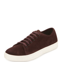 Austin Suede Low-Top Sneaker, Burgundy - Vince